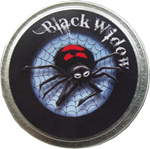 8oz. OhSoy! Halloween Collection Soy Tin  - Black Widow