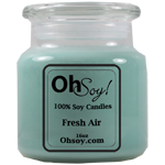 16oz. Jar Soy Candle - Fresh Air / Odor Eliminator