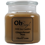16oz. Jar Soy Candle - Gingerbread Man