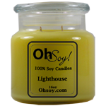 16oz. Jar Soy Candle - Lighthouse