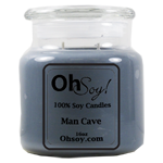 16oz. Jar Soy Candle - Man Cave