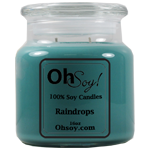16oz Jar Candle  -  Raindrops