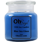 16oz. Jar Soy Candle - Blue Sea Glass