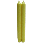 "9"" Unscented Palm Wax Taper Set - Yellow"