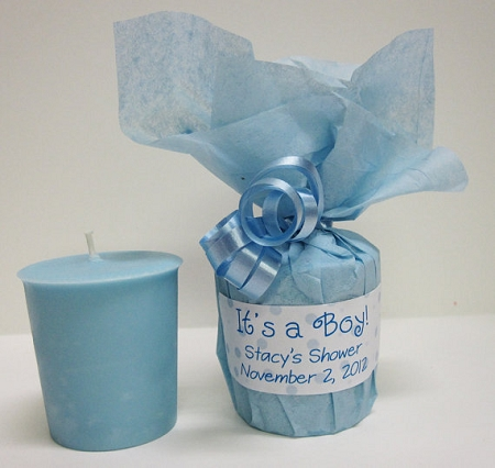 Boy baby shower giveaways