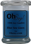 7oz. Jar Soy Candle - Blue Sea Glass