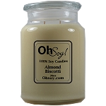 26oz. Jar Soy Candle - Almond Biscotti