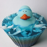 Blue Rubber Ducky Mermaid Tales Scented Glycerin Soap - 5.5oz