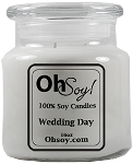 16oz Jar Soy Candle  -  Wedding Day