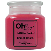 16oz. Jar Soy Candle - Bed of Roses