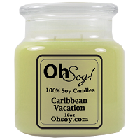 16oz Jar Candle  -  Caribbean Vacation