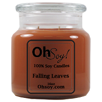 16oz. Jar Soy Candle - Falling Leaves