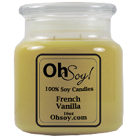 16oz. Jar Soy Candle - French Vanilla