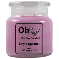 16oz Jar Candle  -  Hey Cupcake