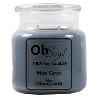 16oz Jar Candle  -  Man Cave