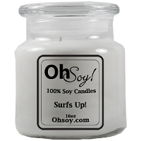 16oz. Jar Soy Candle - Surfs Up! Surf Wax Scented Candle
