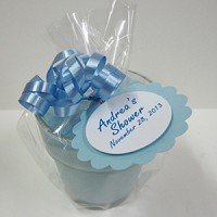 It's a Boy Baby Shower Favors - Blue Baby Powder Scented Soy 4oz Flowerpot