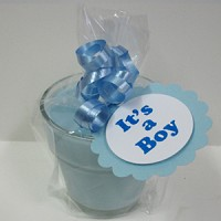 It's a Boy Baby Announcement Favors - Blue Baby Powder Scented Soy 4oz Soy Candle
