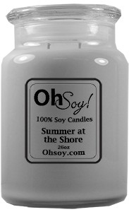 26oz. Jar Soy Candle - Summer at the Shore