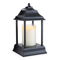 Black Carriage Candle Warmer Candle Lantern