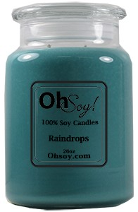 26oz. Jar Soy Candle - Raindrops