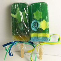 Lemonade Scented Popsicle Glycerin Soap - Stars