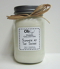 OhSoy Soy Mason Jar - Summer at the Shore