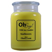 26oz. Jar Soy Candle - Sunflowers