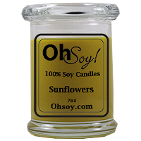 7oz. Jar Soy Candle - Sunflowers