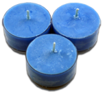12pk Soy Tea Lights  -  Blue  Hydrangea