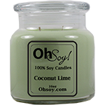 16oz. Jar Soy Candle - Coconut Lime