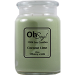 26oz. Jar Soy Candle - Coconut Lime