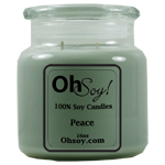 16oz. Jar Soy Candle - Peace