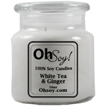 16oz. Jar Soy Candle - White Tea & Ginger