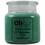 16oz. Jar Soy Candle - O' Christmas Tree