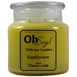 16oz. Jar Soy Candle - Sunflowers